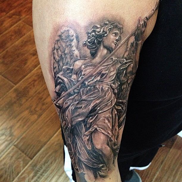 Greek Gods Statue Tattoo on Full Sleeve