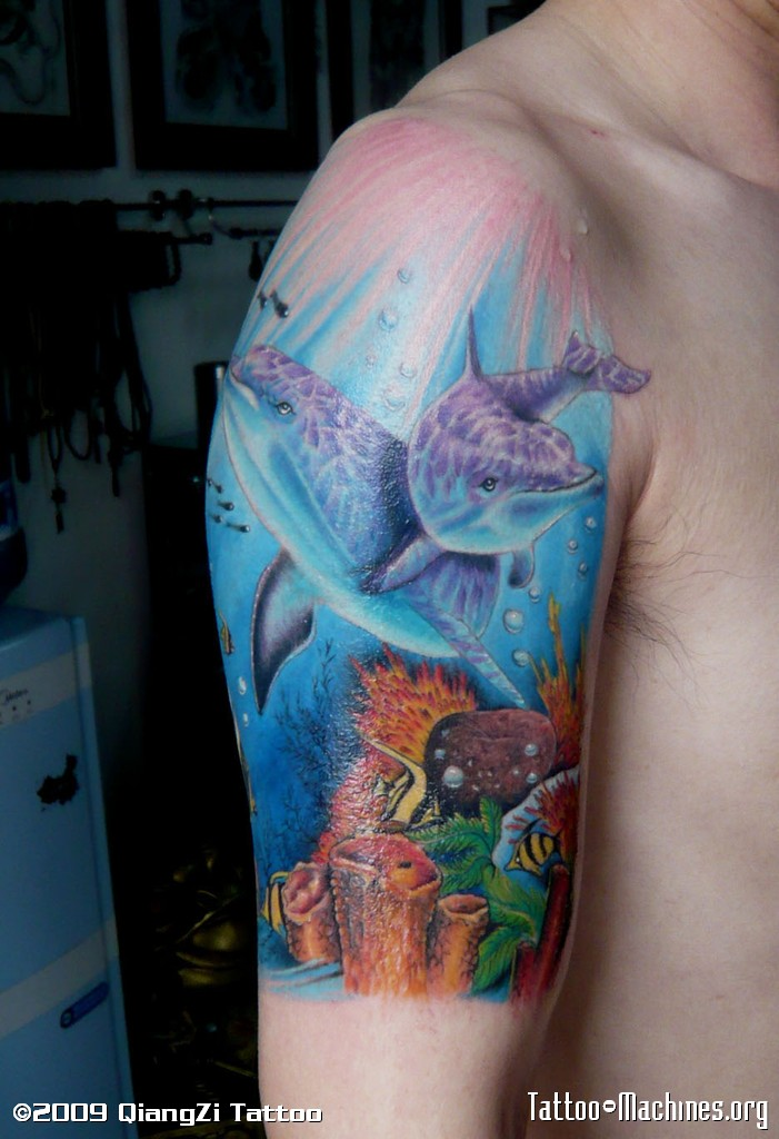 List of synonyms and antonyms of the word ocean life tattoos for Tropical themed tattoos