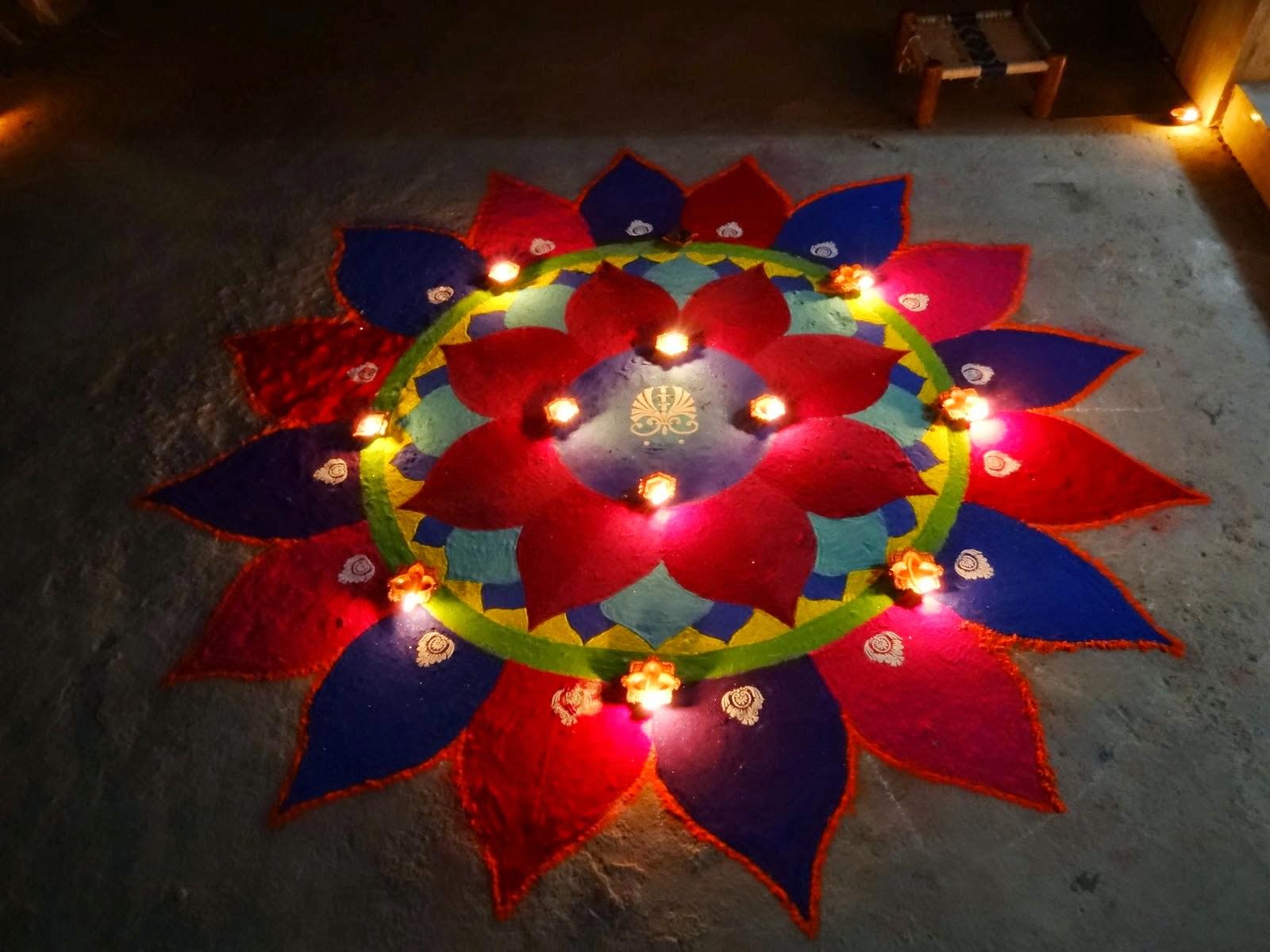 8 Incredible Diwali Rangoli Designs With Diyas for rangoli designs for diwali with diya  584dqh