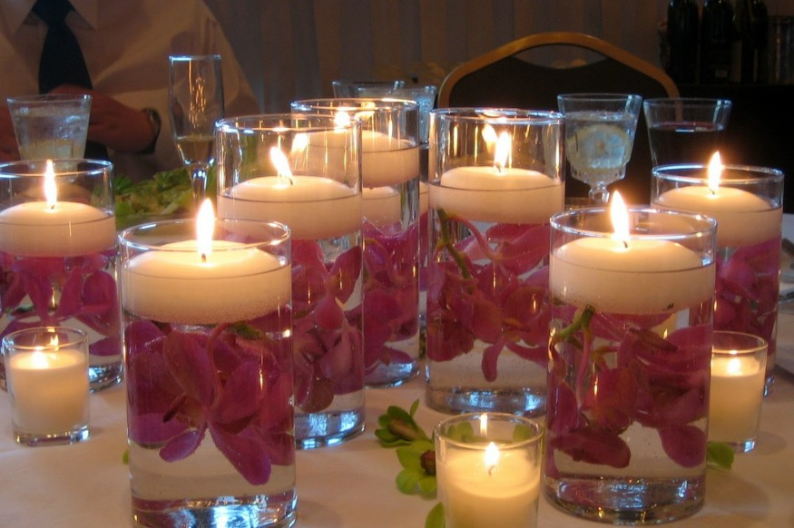 Lovely Floating Candles Diwali Decoration Ideas