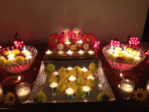 8 beautiful diwali puja decoration ideas for How to make diwali decorations at home