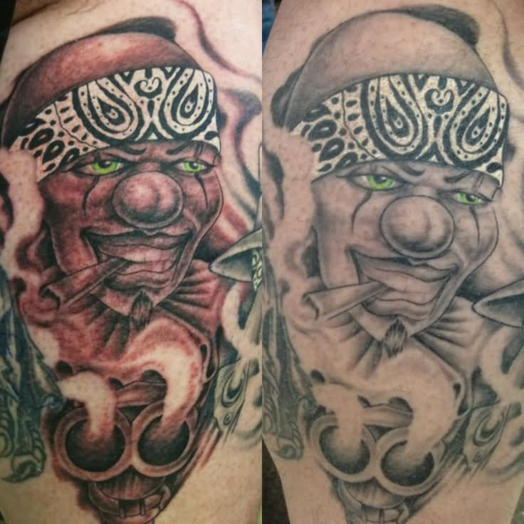 12 Incredible Gangster Clown Tattoo Designs And Ideas