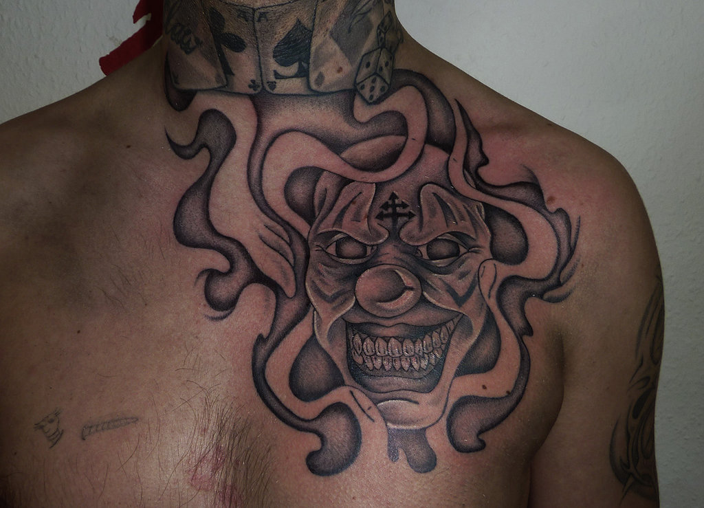 Laugh Now Cry Later Tattoo On Chest