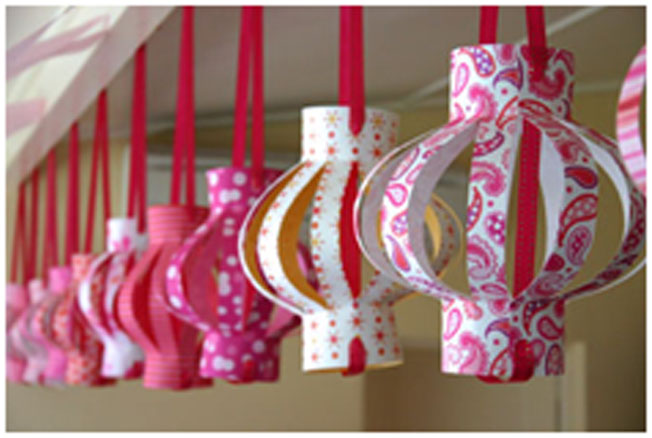 . Hanging Paper Lamps Diwali Decoration Picture