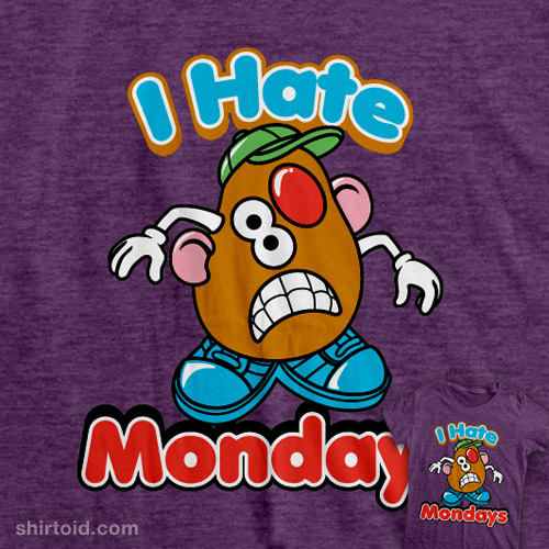 I Hate Monday Cartoon Picture On Tshirt Picture
