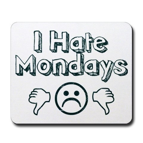 I Hate Monday Sad Smiley Image