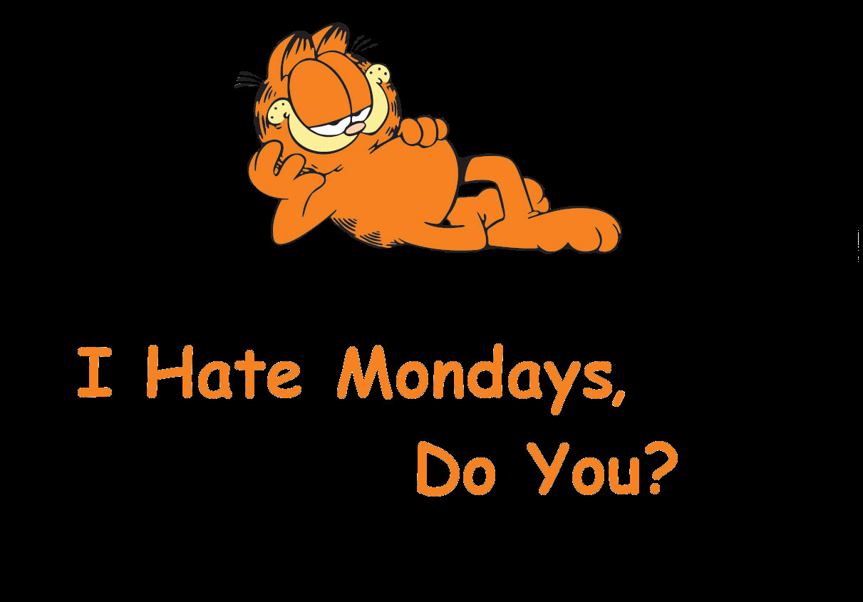 I Hate Mondays Do You Garfield Picture