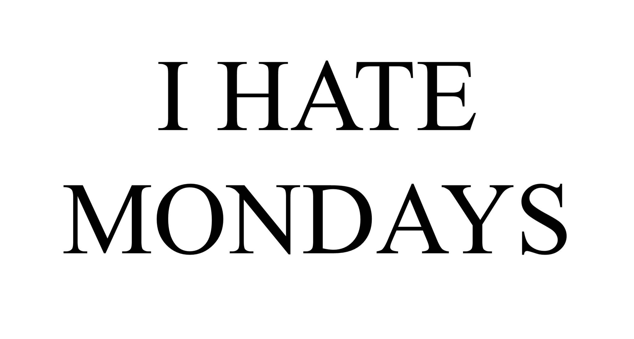 I Hate Mondays Facebook Cover Photo