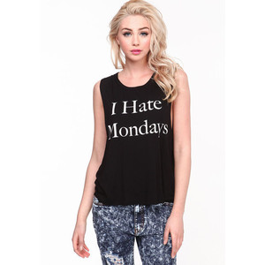 I Hate Mondays On Girls Top Picture