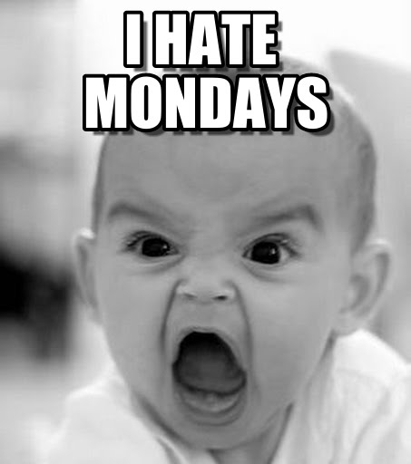 I Hate Mondays Screaming Kid Image