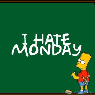 I Hate Mondays Simpsons Picture