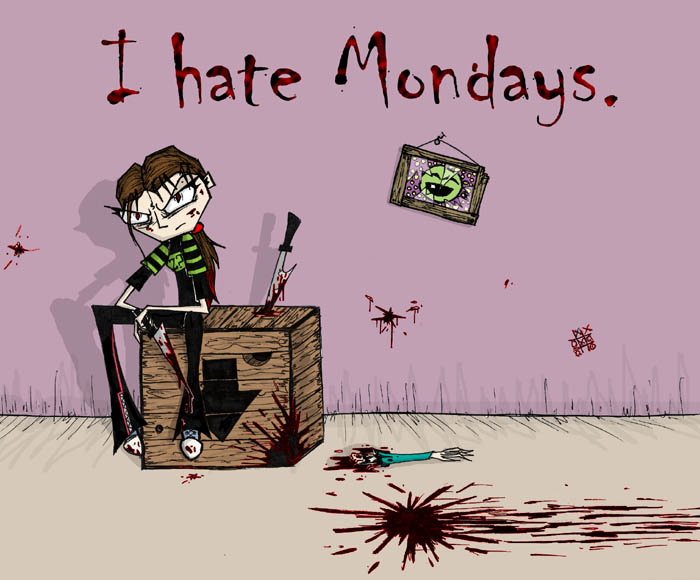 I Hate Mondays Zombie Picture