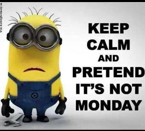 Keep Calm And Pretend It's Not Monday Minion Picture