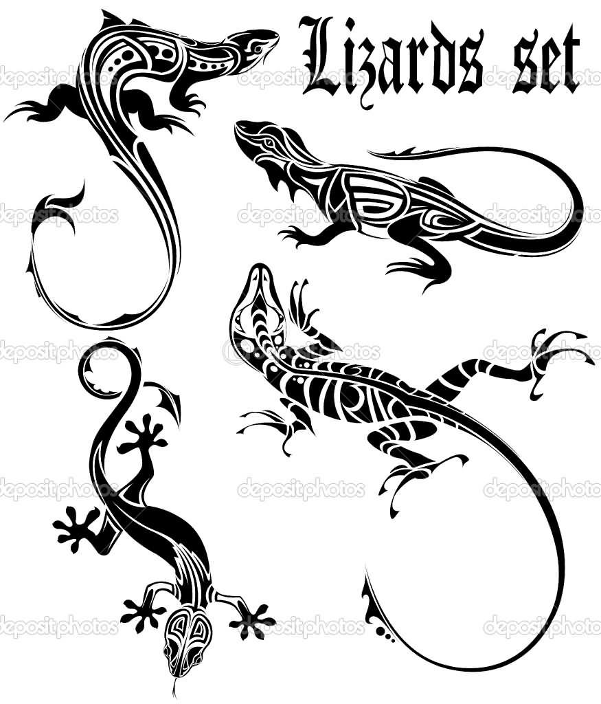 13ec6cb22157f 22 Wonderful Lizard Tattoo Designs