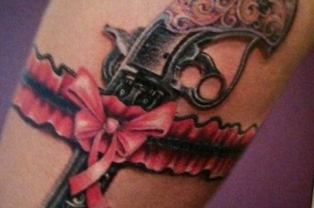 14 beautiful garter tattoo designs for girls for Garter tattoo templates