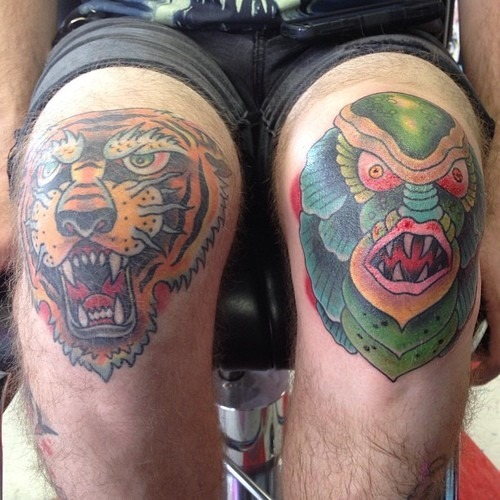 19 Knee Tattoo Designs, Images And Pictures