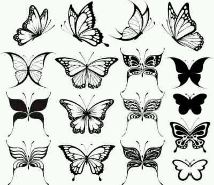 7 awesome butterfly tattoo designs and ideas. Black Bedroom Furniture Sets. Home Design Ideas
