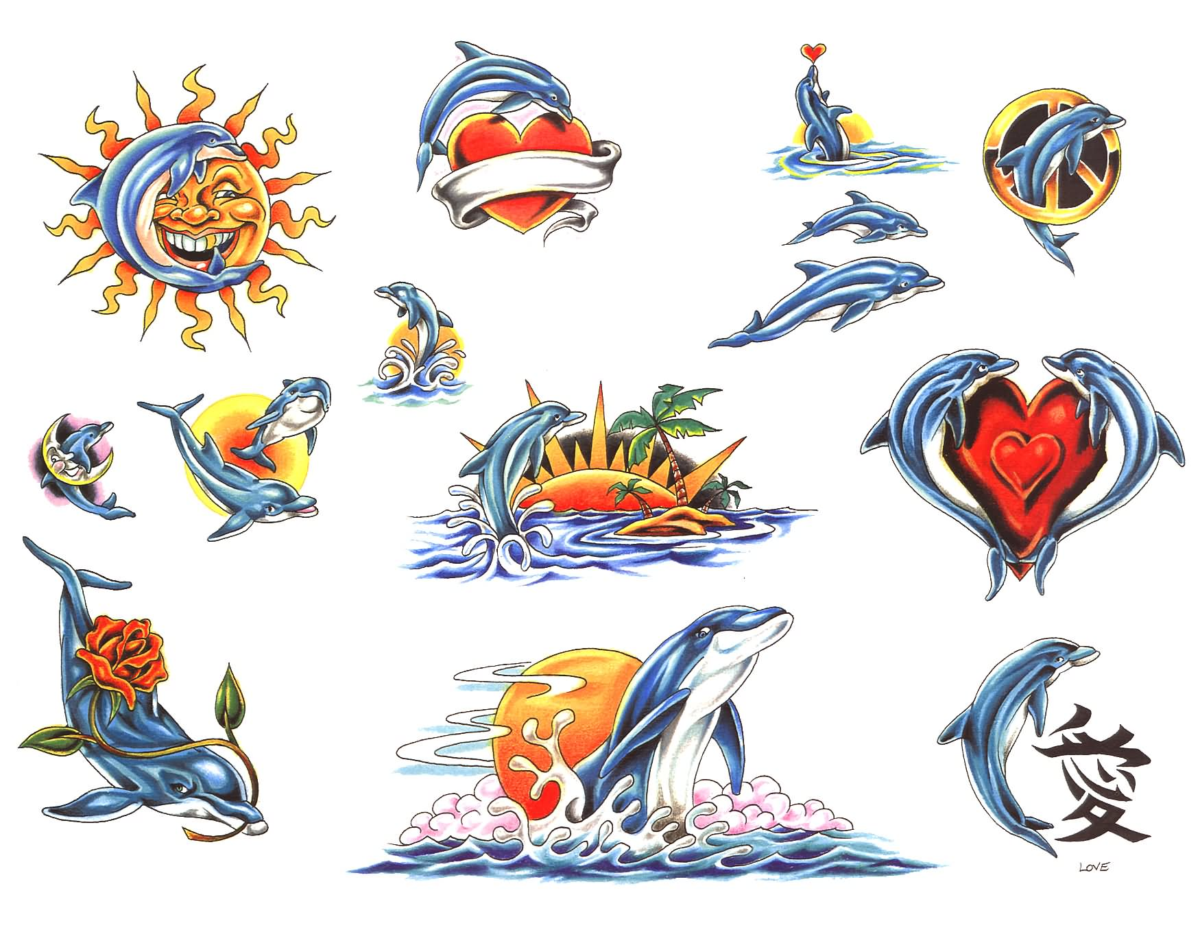 Pics photos dolphin tattoo design tattoos art and designs - 10 Cute Dolphin Tattoo Designs And Ideas
