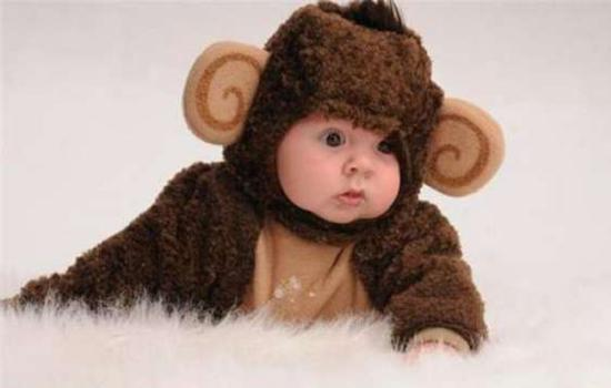 03b38aca6 Baby In Funny Chimpanzee Dress