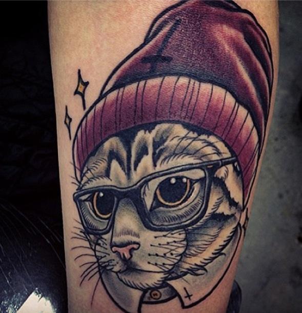 Think, Hello kitty lip tattoo