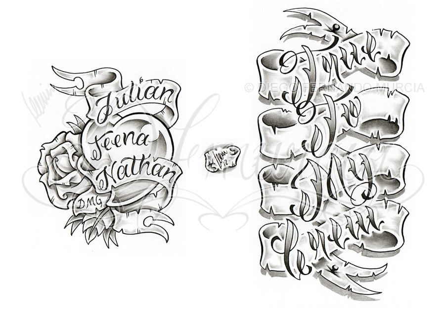 Banner Tattoo Designs Ideas By Dfmurcia