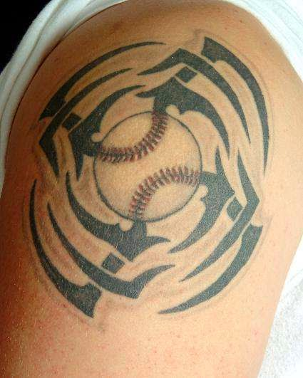 15 baseball tattoo designs and images rh askideas com Baseball Cross Tattoos Baseball -Themed Tattoos