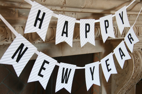 beautiful happy new year banner