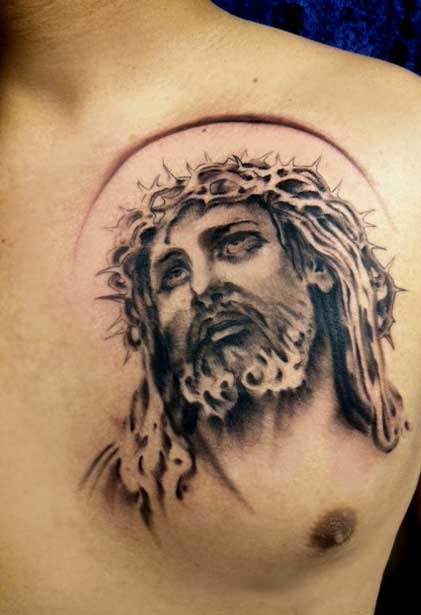 20 best jesus tattoo images and designs. Black Bedroom Furniture Sets. Home Design Ideas