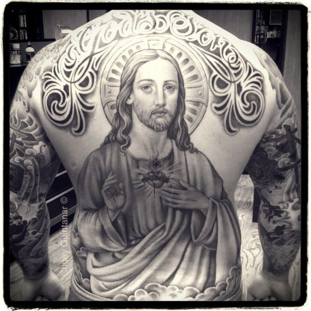 20 best jesus tattoo images and designs for Jesus back tattoos