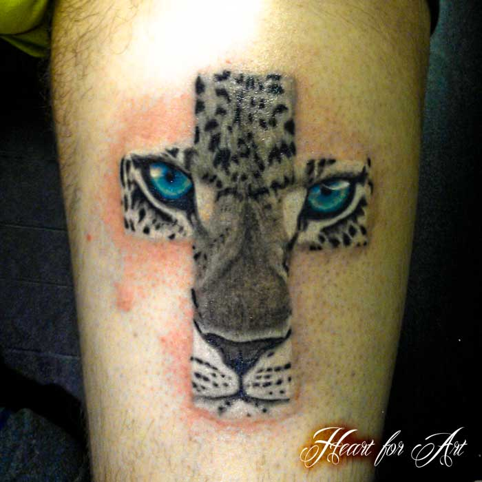 cheetah face tattoo on thigh. Black Bedroom Furniture Sets. Home Design Ideas
