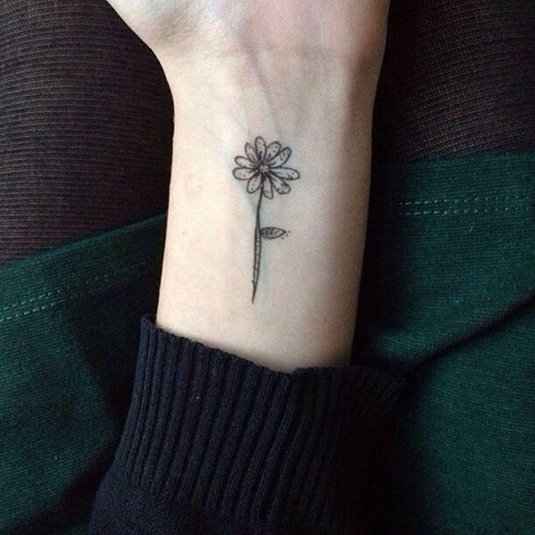 Black And White Sunflower Tattoo Small Flowers Healthy