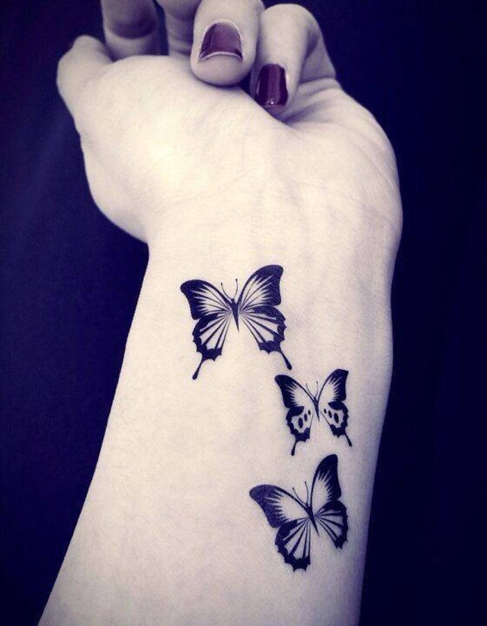 18 butterfly tattoo designs and images for girls for Pretty tattoos for girls