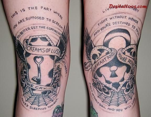 19 knee tattoo designs images and pictures. Black Bedroom Furniture Sets. Home Design Ideas