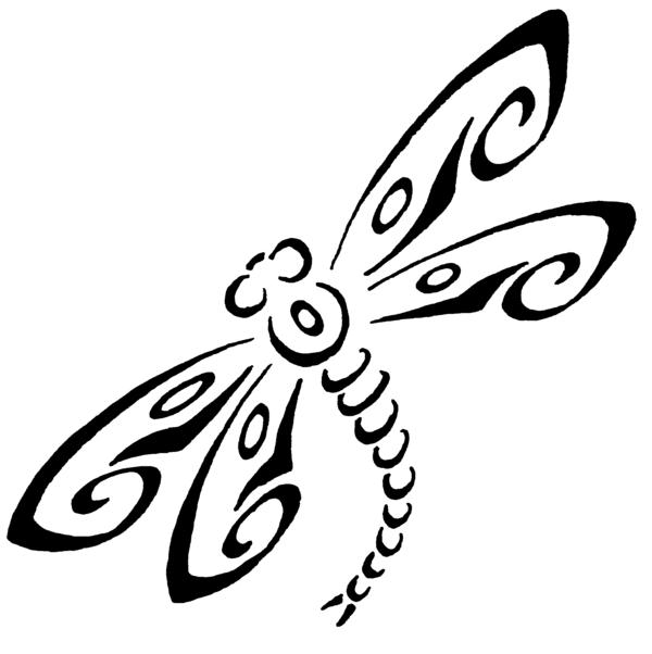Black Maori Dragonfly Tattoo Stencil By Caren
