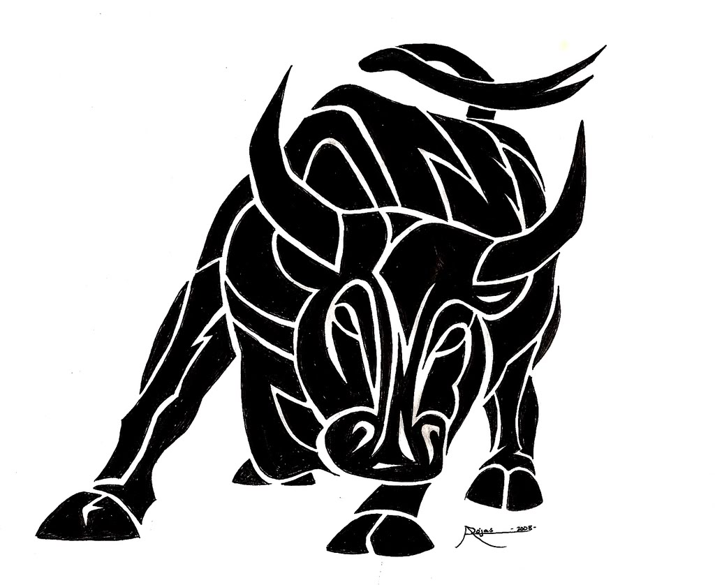 9 bull tattoo designs stencils and ideas. Black Bedroom Furniture Sets. Home Design Ideas