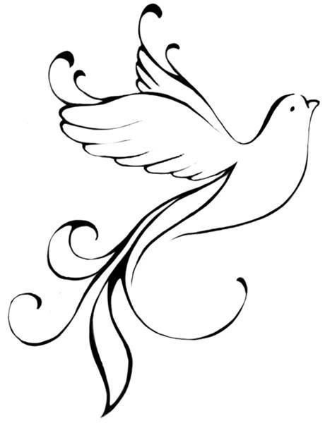 Dove Tattoo Stencil 8 Latest Dove Tattoo D...