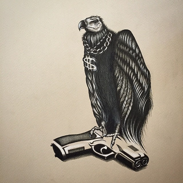 10 best vulture tattoo designs images and pictures