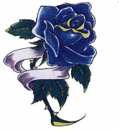 7 latest blue rose tattoo design ideas for girls. Black Bedroom Furniture Sets. Home Design Ideas