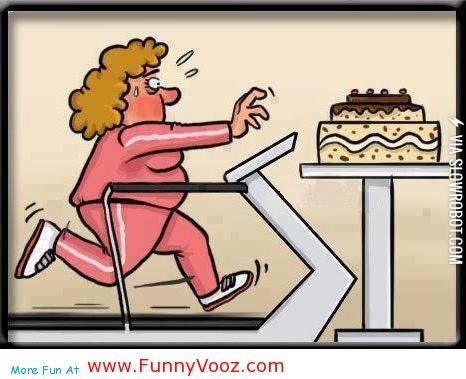 Cartoon Running On Treadmill For Loosing Weight Funny Exercise