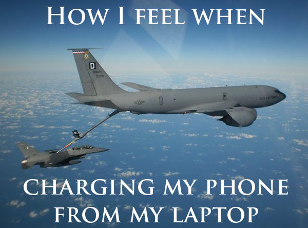 Charging My Phone From My Laptop Funny Plane Meme 22 most funny plane pictures