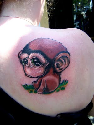 12 best monkey tattoo images and designs for Baby monkey tattoos