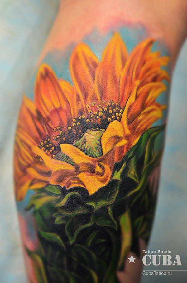 10 Cool Sunflower Tatt...
