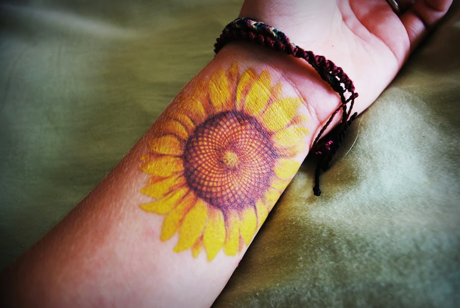 sunflower tattoo images - 929×622