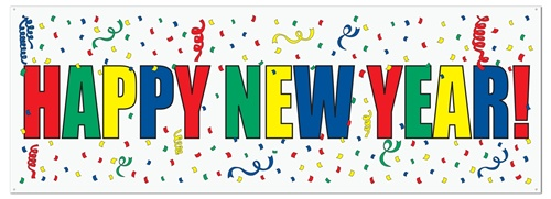 colorful text happy new year banner image