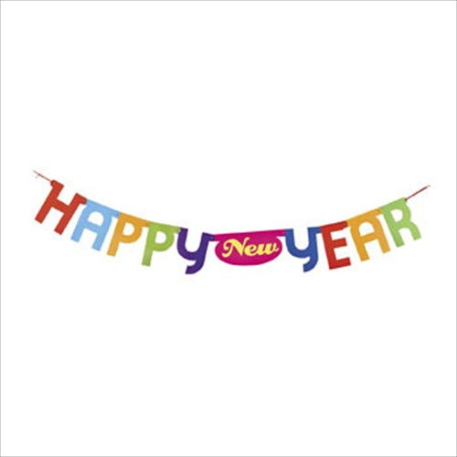 colorful text happy new year banner