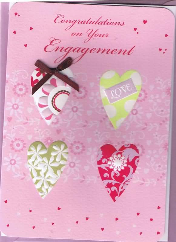 18 best engagement wishes greeting cards congratulations on your engagement pink greeting card m4hsunfo