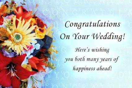 12 wonderful wedding wishes messages pictures congratulations on your wedding heres wishing you both many years of happiness ahead m4hsunfo