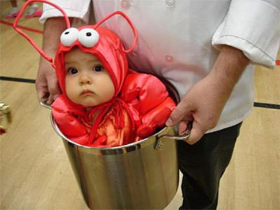 Cute Baby In Red Bee Dress Funny Picture For Whatsapp