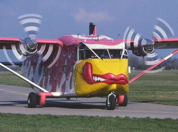 Funny Plane Lip Graphic
