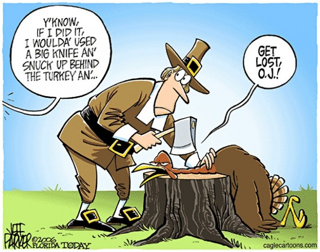 Get Lost Oj Funny Thanksgiving Cartoon